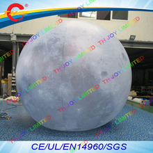 free air shipping,3m/4m/5m outdoor advertise lighting  giant inflatable moon balloon ball for event decoration