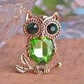 Gorgeous Fashion Crystal Alloy AntiGold Plated Owl Jewelry Collar Brooch Korean Fashion Accessories Girl Birthday Gift Broche