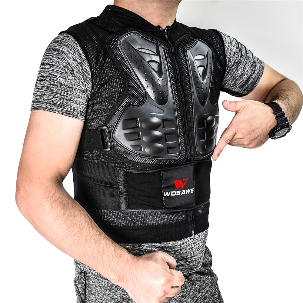 WOSAWE Motorcycle Back Support Protective Vest EVA Pad Snowboard Hockey Sports Sleeveless Safety Jackets Protection Armor