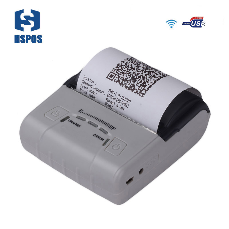 80mm impressora mini portable pos receipt printer usb wifi thermal printer restaurant order printer support 2D code printing