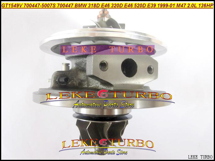 цена на Turbo Cartridge Chra Core GT1549V 700447 700447-0006 700447-0007 11652248901 11652247297 For BMW 318D 320D E46 520D E39 M47 2.0L