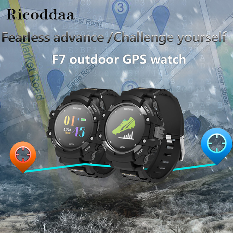 GPS Smart Watch Man Color LCD Realtime Heart Rate Temperature Monitor Multisport Outdoor Sports Fashion Smartwatch Wearable