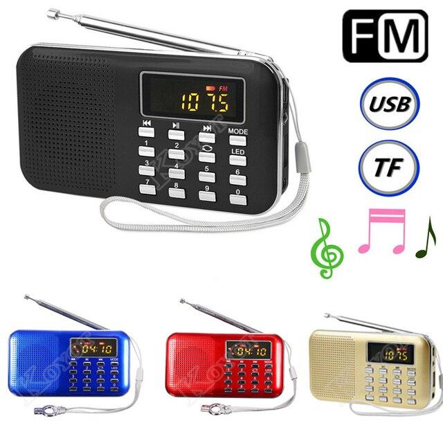 4 Цветов Мини Портативный ЖК-Цифровой Fm-радио Спикер USB Micro SD TF Карт Mp3 Плеера Бесплатная доставка