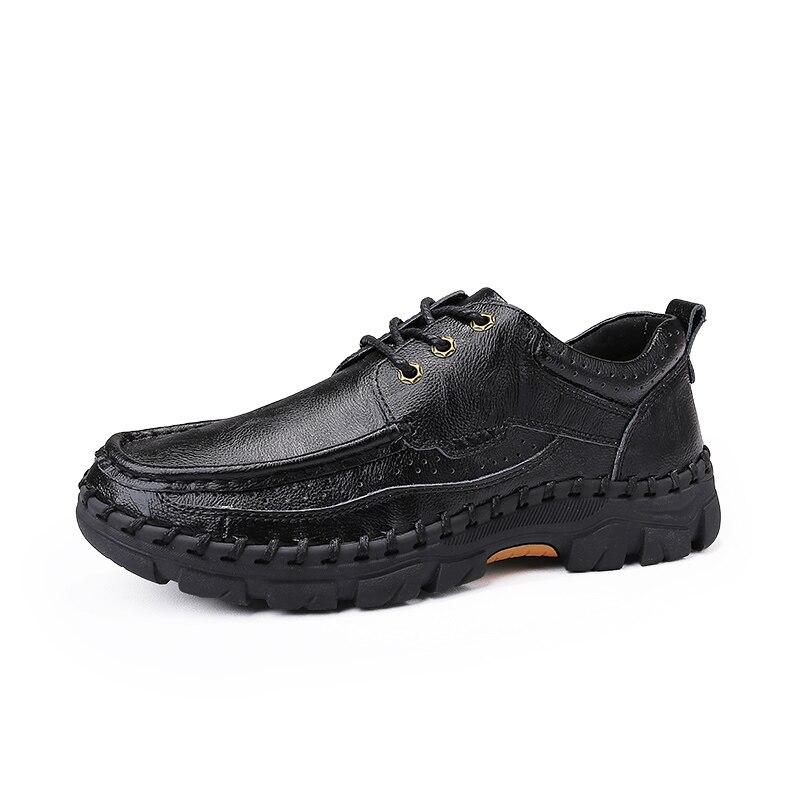 c5a533f60 Homens branco Confortáveis Primavera Genuínos Luxo azul Tênis Grande  Casuais Couro Preto Calçado marrom Tamanho Oxfords Sapatos ...
