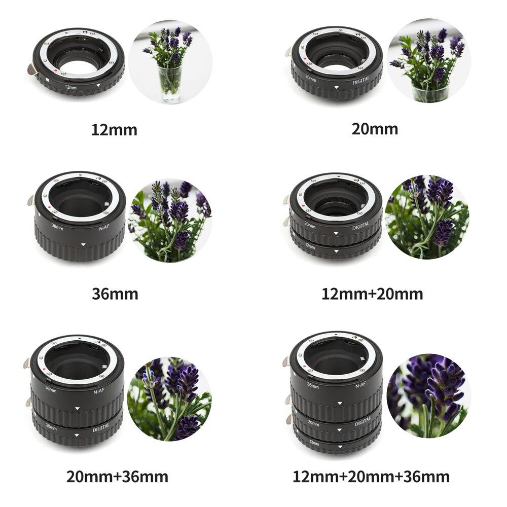 Bague Tube d'extension Macro à mise au point automatique pour Nikon D5300 D7200 D3400 D3300 D3200 D3100 D750 D850 pour accessoires Nikon D3200 - 5