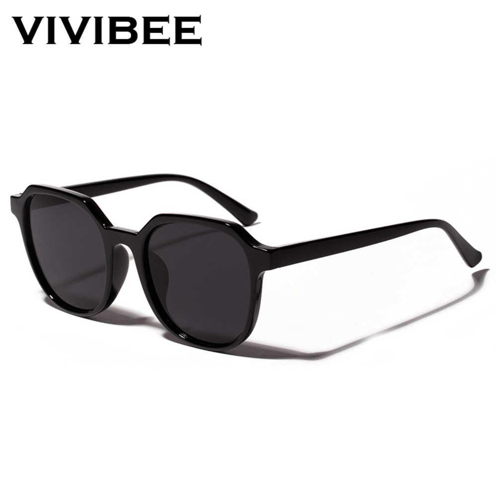 34fec204004a ... VIVIBEE Summer Eyeglasses Fashion Transparent Orange Square Sunglasses  for Women 2019 Trendy Sun Glasses Vintage Men