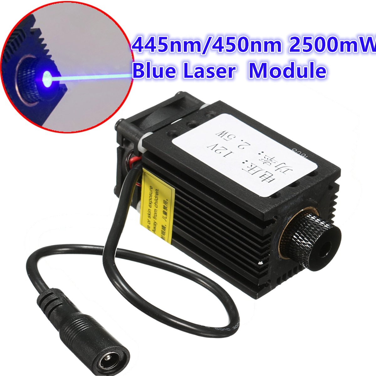 1Pcs 2500mW 2.5W 445nm 450nm Blue Laser Module For DIY CNC Laser Cutter Engraving Machine With Adaptor 1pcs vacuum cleaner storage package for dyson v6 v7 v8 dc62 suction head storage bag