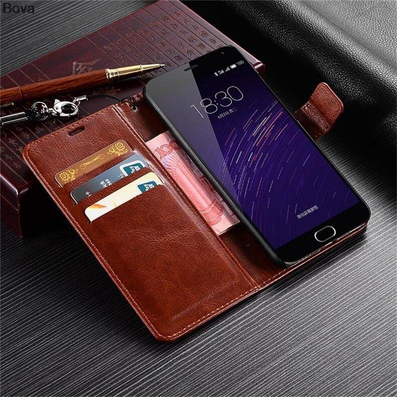 MEİZU M2 NOTE M571 Pu dəri qutusu üçün ultra nazik cüzdan flip - Cib telefonu aksesuarları və hissələri - Fotoqrafiya 3