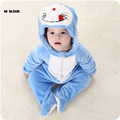 Easter Gift Baby Clothing Winter Long Sleeve Infant Onesie Doraemon Kitty Cat Totoro Costumes Soft Baby Jumpsuits Set Rompers