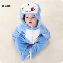 Cadeau de pâques Bébé Vêtements D'hiver À Manches Longues Infantile Onesie Doraemon Kitty Chat Totoro Costumes Doux Bébé Combinaisons Ensemble Barboteuses