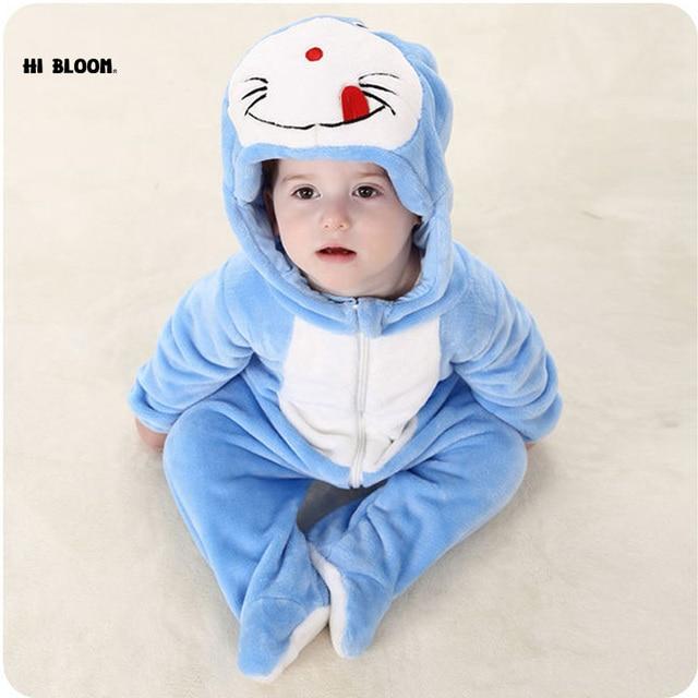 c838b8076 Easter Gift Baby Clothing Winter Long Sleeve Infant Onesie Doraemon ...