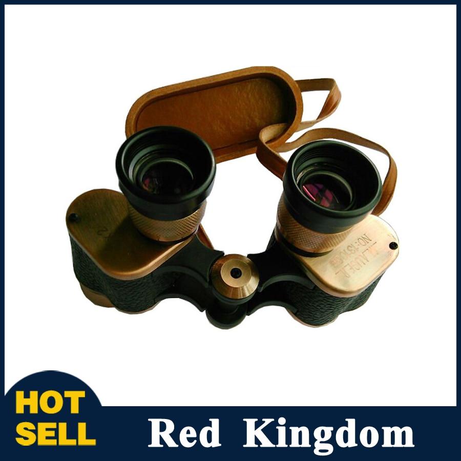 Military HD 6X24 Binoculars Warfare Waterproof Telescope All-metal Vulcanized Full-width Coating with Leather Box for Watching антенна телевизионная внешняя one for all full hd sv9455