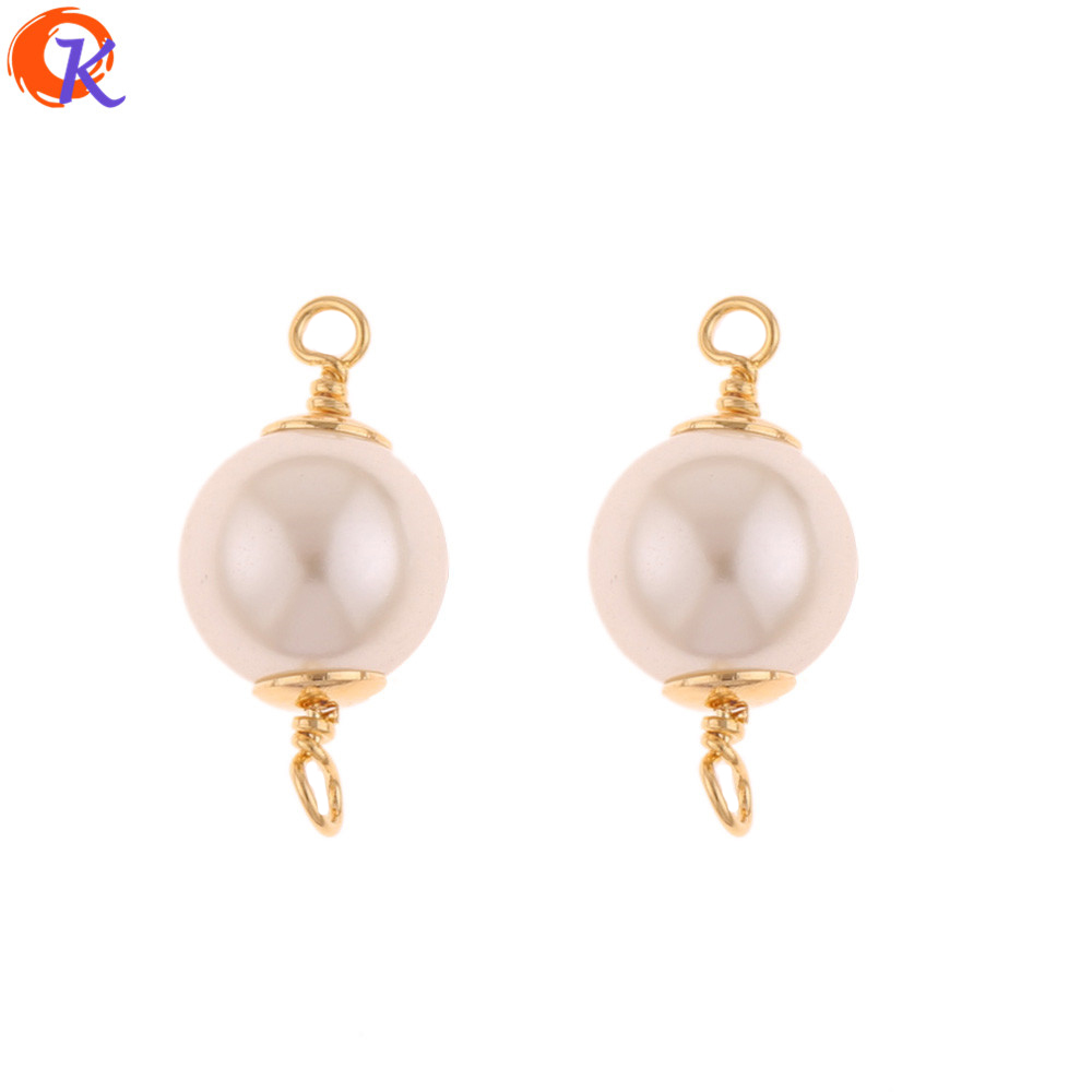 Cordial Design 50Pcs 10*21MM Jewelry Accessories/DIY Making/Genuine Gold Plating/Imitation Pearl/Hand Made/Earring Findings