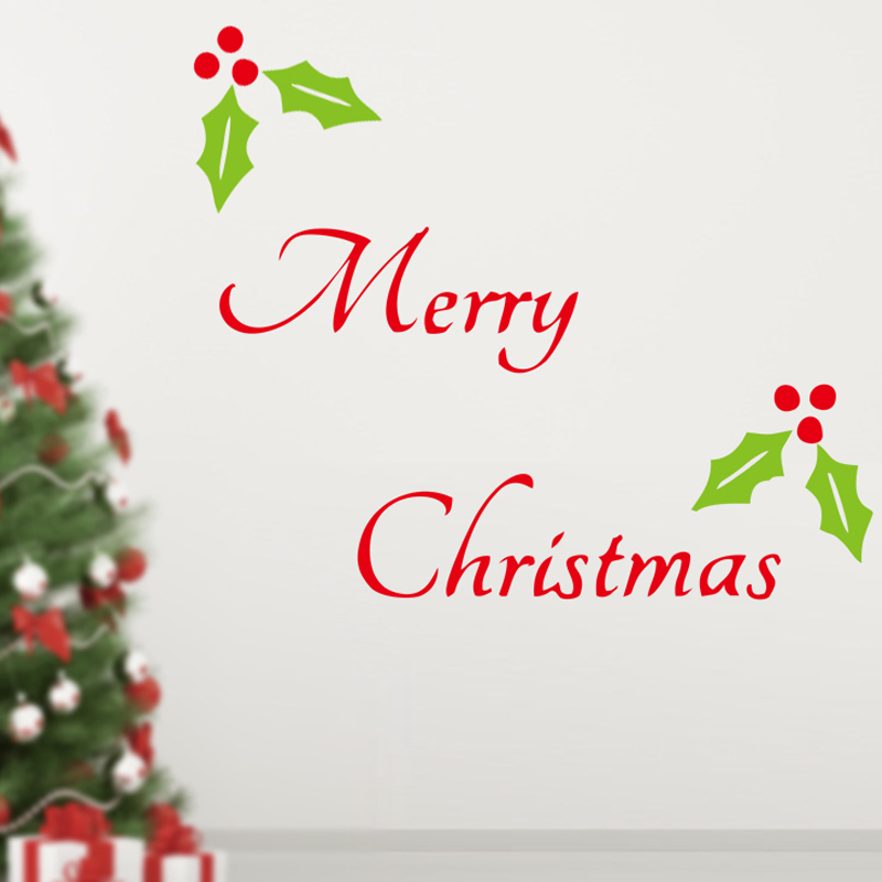 merry christmas wall stickers christian living room home decorations 23 diy vinyl xmas decals festival mual art posters in wall stickers from home garden