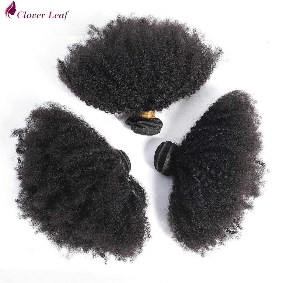 Бразильские афро кудрявые Вьющиеся Плетение Человеческих Волос 2/3 пучки с 4*4 Кружева Закрытие Remy бразильские волосы пучки с закрытием