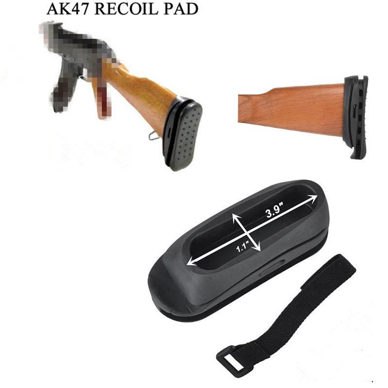 Element Airsoft eAK47 Tactical BUTT Stocks Rubber Recoil Pad Butt Shockproof Rubber Airsoft Hunting Black TAN OT0401