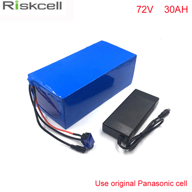 No taxes 72Volt 3000W eBike  Lithium Battery 72V 30Ah 18650 electric bike Battery Pack For Electric Bike For Panasonic cell free customs taxes electric bike 36v 40ah lithium ion battery pack for 36v 8fun bafang 750w 1000w moto for panasonic cell