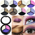 Hot item! 3 Colors Eyeshadow Natural Smoky Cosmetic Eye Shadow Palette Set Beauty Make Up