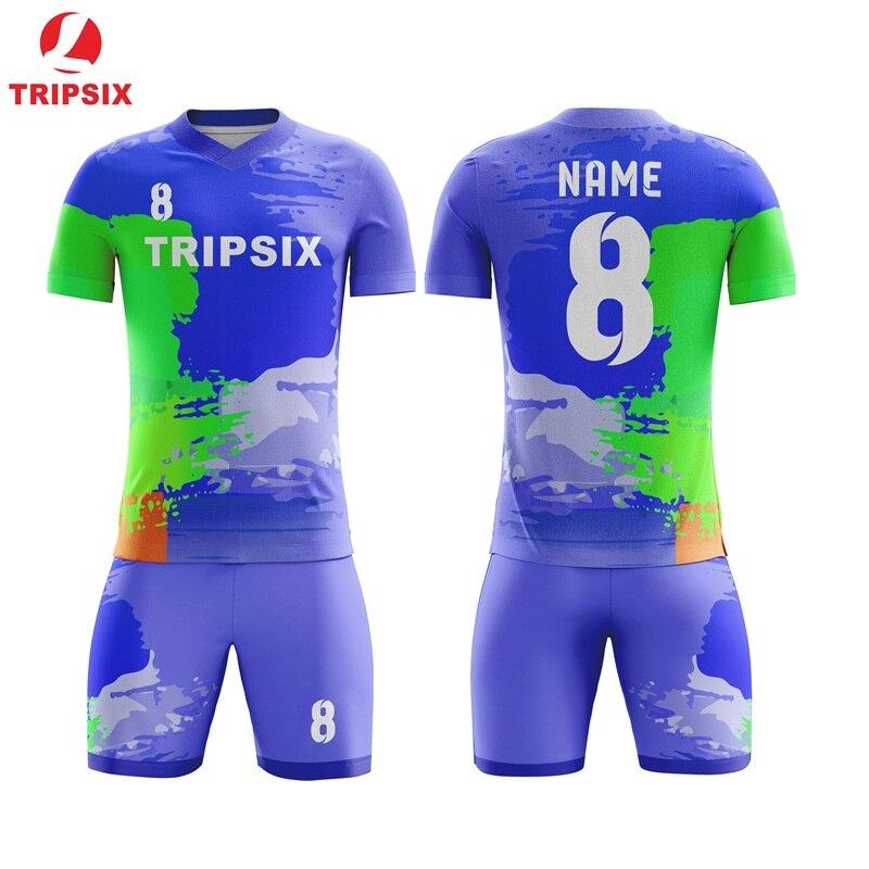 Conception Football formation costume personnalisé Football équipes Jersey personnaliser Football Jersey Voetbal chemises impression gratuite Logo numéro