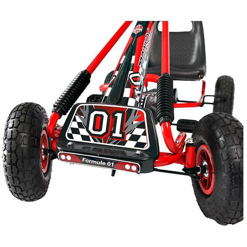 12 pulgadas niños caucho neumático pedal rueda Go Karts acero Marcos ...