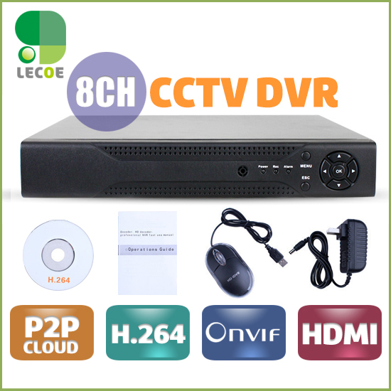 Full D1 960H H.264 HDMI Security System CCTV DVR 8 Channel DVR  Digital Video Recorder DVR with audio,HDMI,Cloud P2P free shipping h 264 ahd cctv dvr 16 channel security camera system stand alone hdmi d1 video surveillance digital video recorder