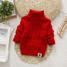High Neck For Winter Kids Sweater 2019 New Fashion Korean Kids Clothes Boys Sweaters And Tops Autumn Knitwear Pullover