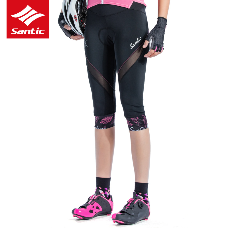 2018 NEW Women Bicycle Shorts Santic Cycling Downhill Anti-sweat Breathable Sport Female Short MTB Bike 4D Paded Mesh Underwear santic short cycliste homme anti sweat and quick dry mtb shorts cuissard velo homme pro gel troy lee designs short vtt c05018