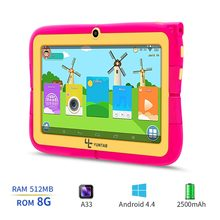 YUNTAB 7inch four colors Q88R iWawa kids tablet PC,parental control software and iWawa kids tablet with chic stand case(China)