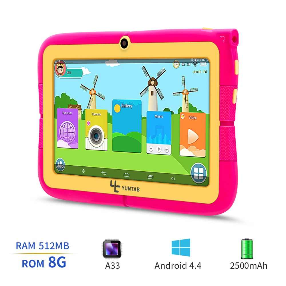 YUNTAB 7inch four colors Q88R iWawa kids tablet PC,parental control software and iWawa kids tablet with chic stand case