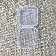50 pz Trasparente di Plastica del Branello Dei Monili di tappi per le orecchie di Stoccaggio Piccola Scatola di Contenitore di Vasi Con Rettangolo Contenitore di Droga Da Viaggio Della Fabbrica di Famiglia