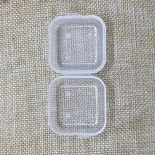 50 шт. прозрачные пластиковые бусины для хранения ювелирных изделий, беруши, маленькие контейнеры банки с прямоугольным контейнером для лекарств, путешествия, семья, фабрика