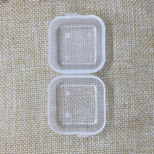 50PCS Clear Plastic Jewelry Bead Storage earplugs Box Small Container Jars With Rectangle Drug Container Travel Family Factory