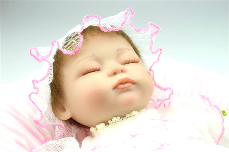 ФОТО 18Inches   Top Quality Fashionsilicone reborn babies  Doll Toys soft  toddler dolls bonecas juguetes girls gift