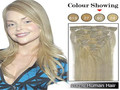 #60 blench blonde clip in human hair extensions Brazilian remy human hair15-22inch 7pcs set clip in hair extensions