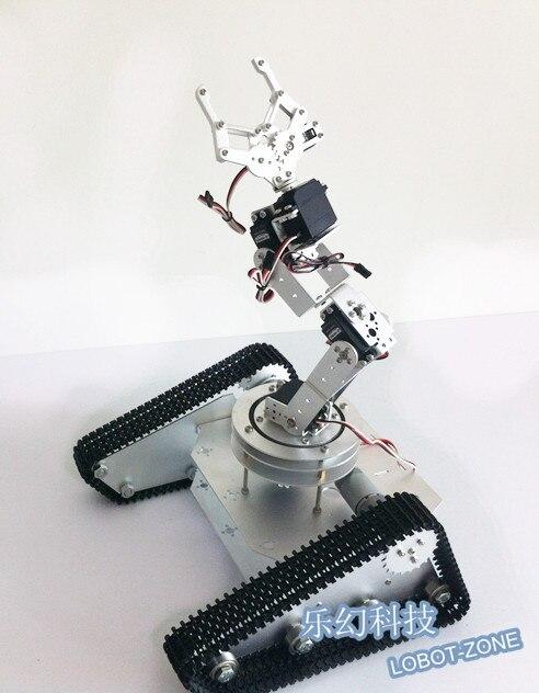 Robo Soul TK 6A Crawler Robot with Tank Chassis+2 x Motors + 6 Degree Mechanical Arm +6 x MG996R Servos