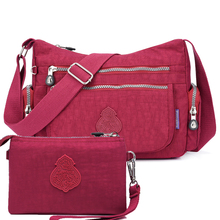 2Pcs/Set High quality Women Handbags Female Shoulder Crossbody bags Nylon Messenger Bag Lady Travel Purses Bolsas Sac A Main