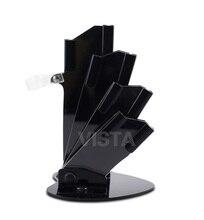 """Portacuchillas acrílico Negro para 3 """"4"""" 5 """"6"""" cuchillo + cuchillo pelador bloques de soporte de cuchillo de cerámica set de accesorios de cocina"""