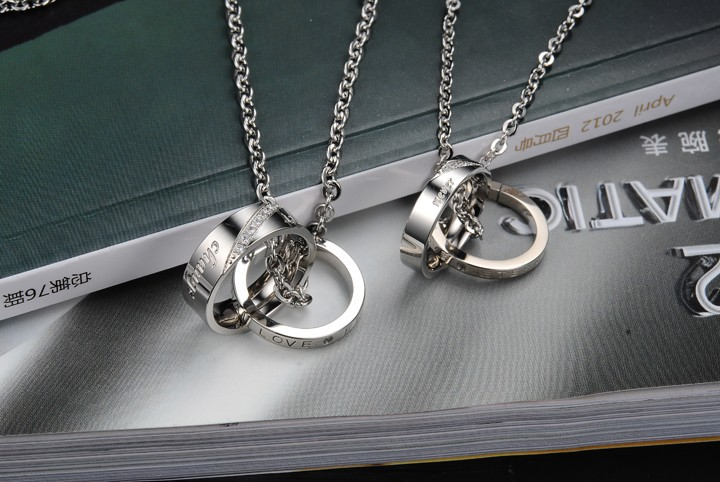 c065589cb9 Korean Fashion Design Crystal Elegant Couple promise necklace jewelry  Eternity Engagement Love Token-in Chain Necklaces from Jewelry &  Accessories on ...