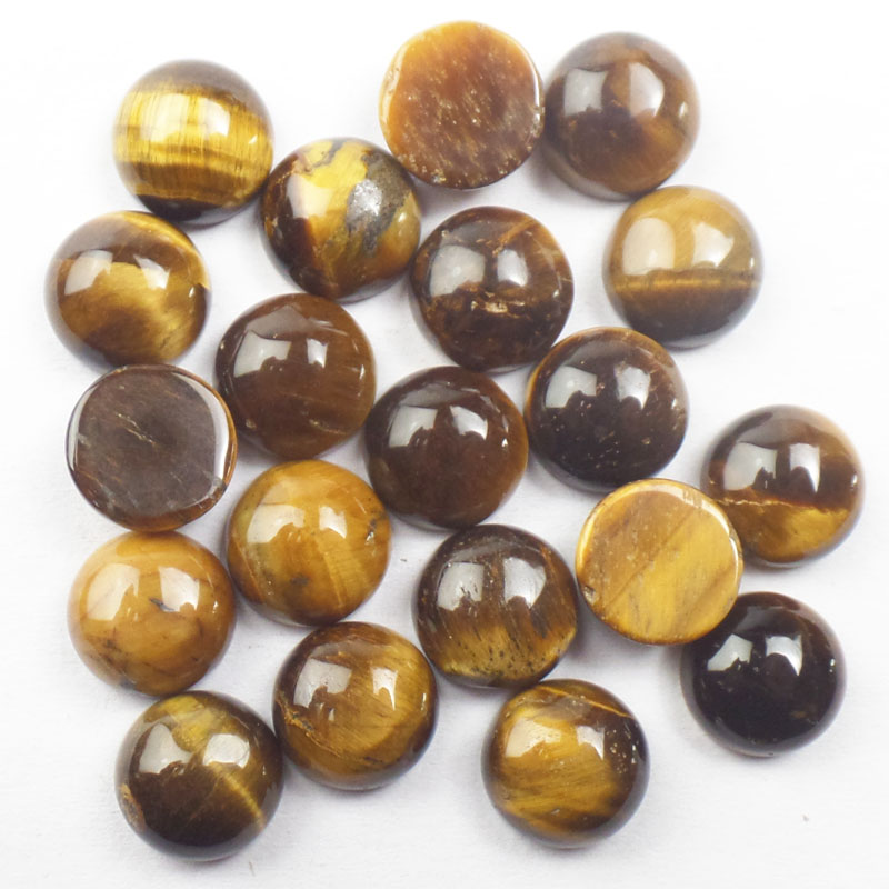 Free Shipping! (10 pieces/lot) Tiger Eye Gems Round CAB Cabochon 6x3.5/8x3.5/10x4.5mm Fashion Jewelry