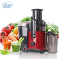 Red Electric Fruit Juice Machine 220V Household Extrusion Vegetables Juice Machine 3 Speeds Controllable Plastic Juicer