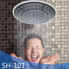Round ABS Ceiling Mounted Rainfall Shower Room Top Spraying Head Cabin Faucet Replacement Parts G1/2 Connector