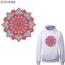 ZOTOONE Iron on Retro Flower Patches Heat Transfer Vinyl Iron-on Transfers Patch Stickers for Clothing DIY T-shirt Thermal Press