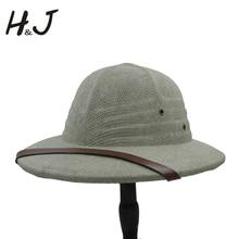 100% Toquilla Straw Helmet Pith Bucket Hats For Men Vietnam War Army Hat Dad Boater Summer Sun Hats Safari Jungle Miners Cap