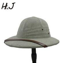 Toquilla casque en paille pour hommes, chapeau seau en paille, chapeau de guerre au Vietnam, papa, bateau, chapeau de soleil dété, Safari, Jungle, mineurs, collection 100%