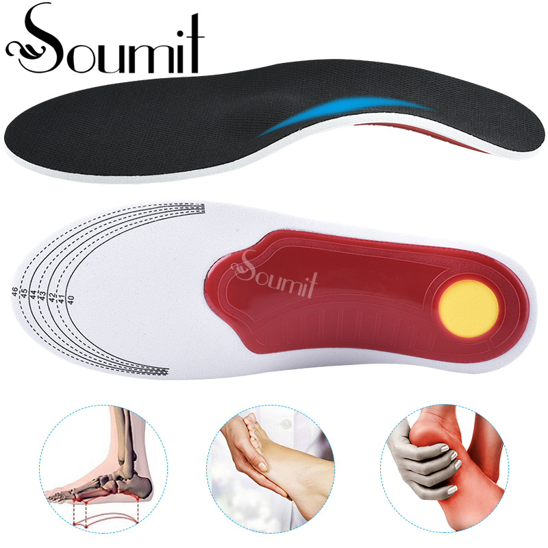 Soumit Orthotics Cubitus Varus Flat Foot Insole Men Women Orthopedic Insole For Shoes Plantar Fasciitis  Arch Support Insert Pad