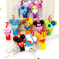 2017 Good Gift 30pcs Lot Cartoon Model Headphone Cord Holder Earphone Cable Wire Organizer USB Charger