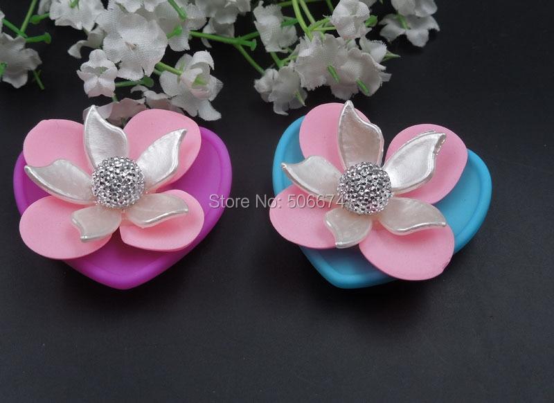 2 pcs 37mm cor casal 2016 nova pérola saco acessórios sapato flor strass  acrílico para a jóia DIY fazendo charme acessórios d3f47bc8cfd