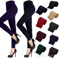 2016 hotFitness High Street Lady Mulheres Inverno Quente Magro Magro Estiramento Grosso Footless Leggings 8QB8