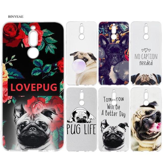 Caixa Do Telefone Do Silicone para Huawei Companheiro 10 20 P10 P20 P30 Honra 9 10 Lite Pro P Inteligente 2019 Francês bulldog Cão PUG Imprimir Capa Coque