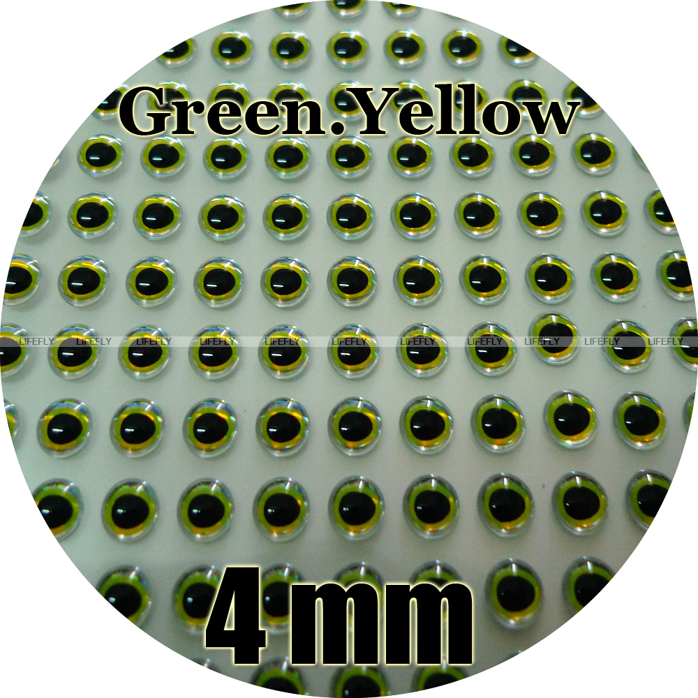 5mm Flat Chartreuse // Wholesale 700 Flat Eyes Jig Lure Making Fly Tying